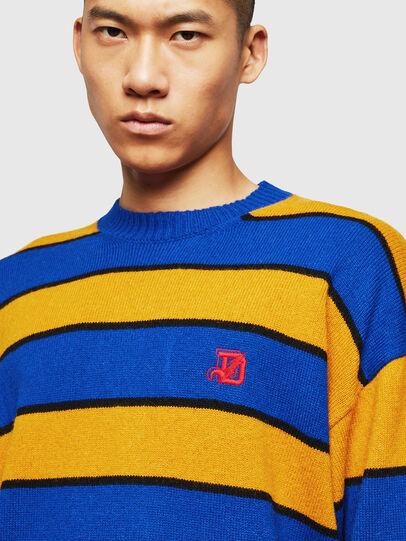Diesel - K-LOVERY, Blue/Yellow - Knitwear - Image 5