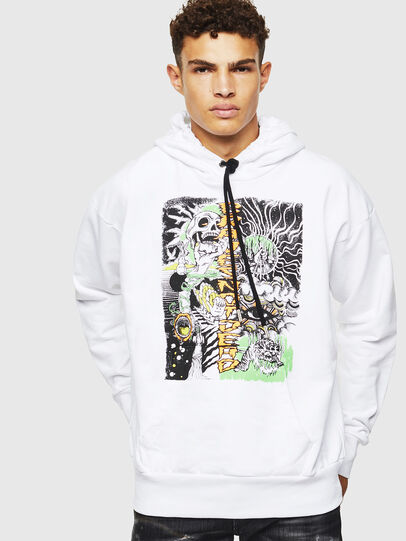 Diesel - S-ALBY-D1, White - Sweaters - Image 1