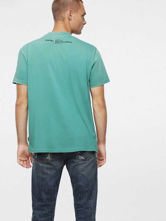 Diesel - T-JOEY-T, Water Green - T-Shirts - Image 2
