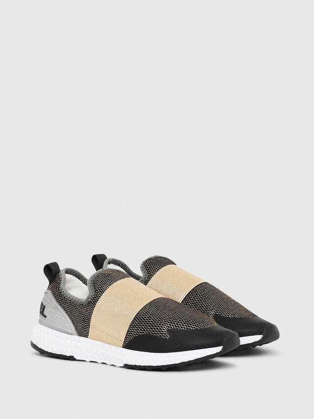 Diesel - SN SLIP ON 16 ELASTI, Black/Gold - Footwear - Image 2