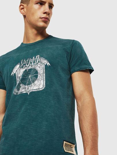 Diesel - T-DIEGO-CUT-AC, Blue Marine - T-Shirts - Image 4