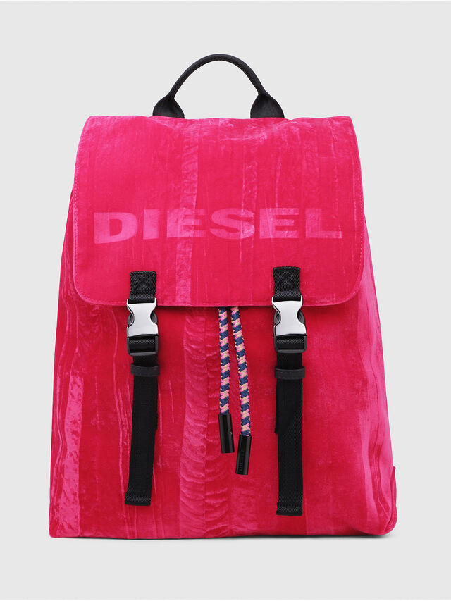 Diesel - F-MUSILE BACKPACK, Pink Fluo - Backpacks - Image 1