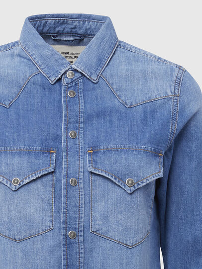 Diesel - DE-RINGY, Light Blue - Denim Shirts - Image 3