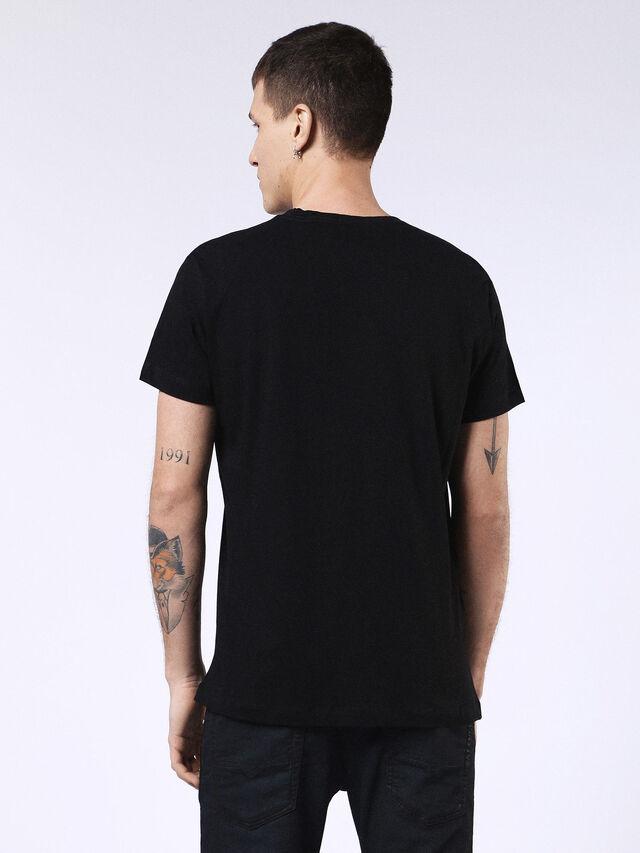 Diesel - DVL-T-SHIRT-ML-RE, Black - T-Shirts - Image 2