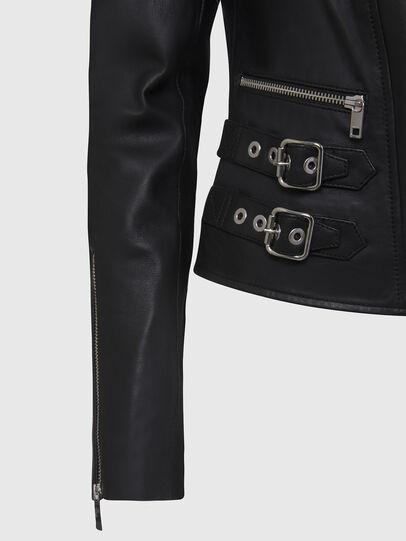 Diesel - L-IGE-NEW, Black - Leather jackets - Image 5
