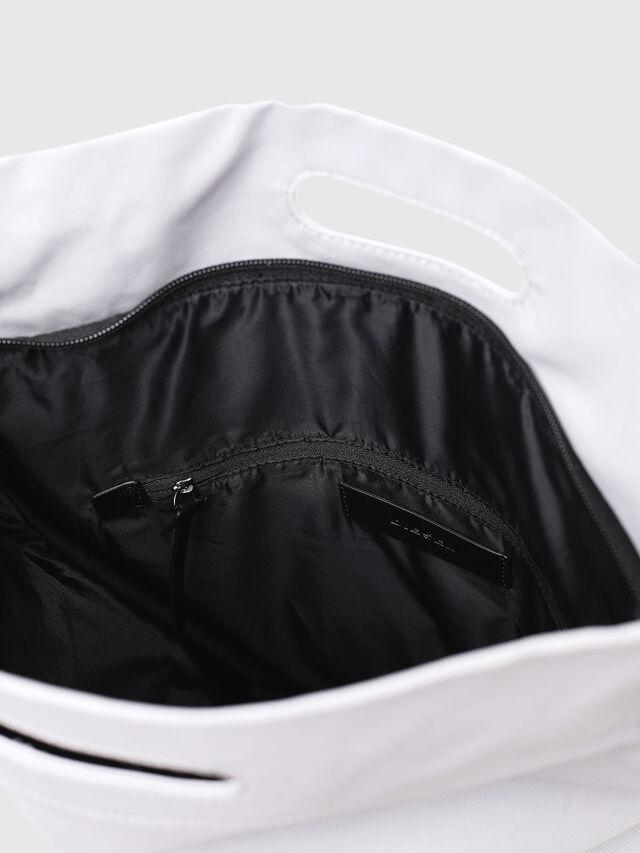Diesel - F-LITT SHOPPER N/S, White - Shopping and Shoulder Bags - Image 4