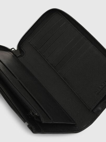 Diesel - L-24 ZIP, Black - Zip-Round Wallets - Image 5