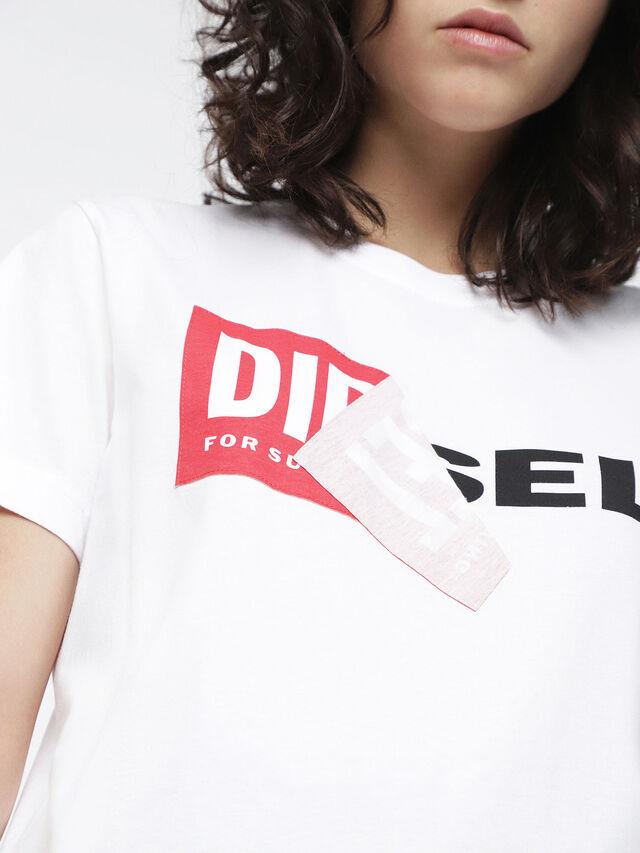Diesel - T-DIEGO-QA-FL, White - T-Shirts - Image 3