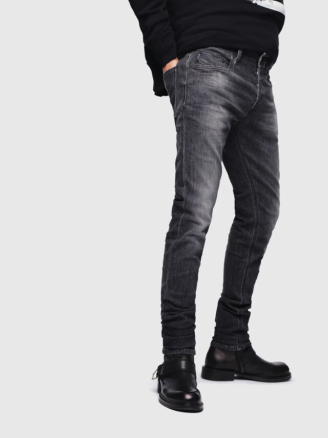 Diesel - Sleenker 089AA, Black/Dark grey - Jeans - Image 3