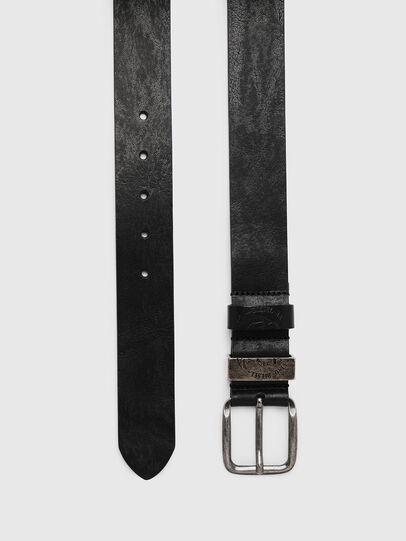 Diesel - B-FRAG, Black Leather - Belts - Image 3