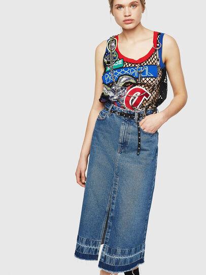 Diesel - DE-INGRID, Medium blue - Skirts - Image 3