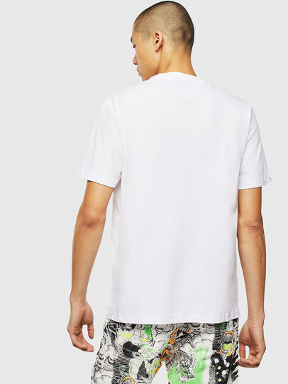 Diesel - T-JUST-SLITS-J18, White - T-Shirts - Image 2
