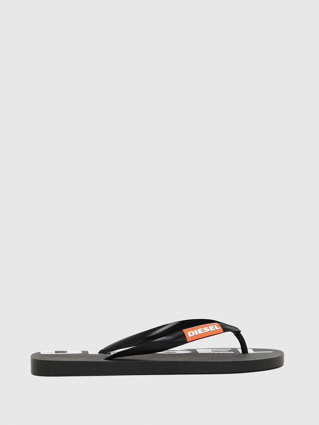 Diesel - SA-BRIIAN W, Black/White - Slippers - Image 1