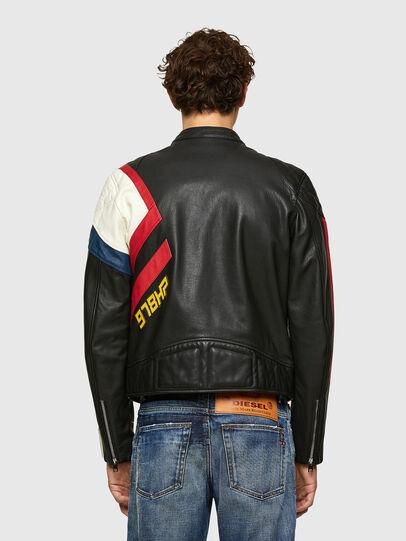 Diesel - L-POWER, Black/White - Leather jackets - Image 2