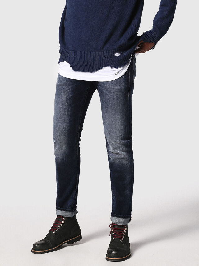 Diesel - Thommer 0860L, Dark Blue - Jeans - Image 1