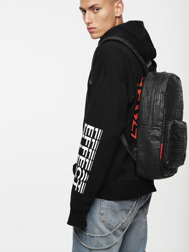 Diesel - F-DISCOVER BACK, Black/Red - Backpacks - Image 4