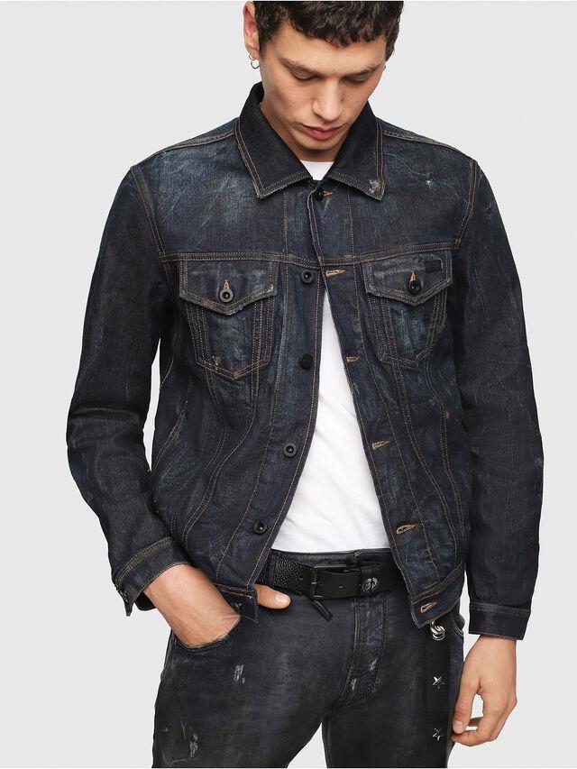 Diesel - CL-NHILL, Dark Blue - Denim Jackets - Image 4