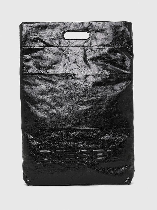 Diesel - F-LITT SHOPPER N/S, Black - Shopping and Shoulder Bags - Image 1