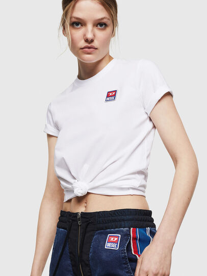 Diesel - T-SILY-ZE, White - T-Shirts - Image 4