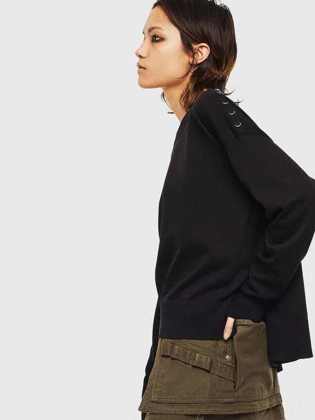 M-PERLA-A, Black - Knitwear