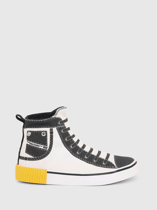 Diesel - SN MID 08 GRAPHIC CH, White/Black - Footwear - Image 1