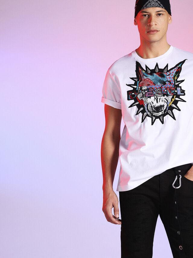 Diesel - LU-T-JUST, White - T-Shirts - Image 3
