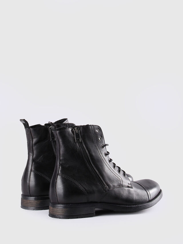 Diesel - D-KALLIEN, Black Leather - Boots - Image 3