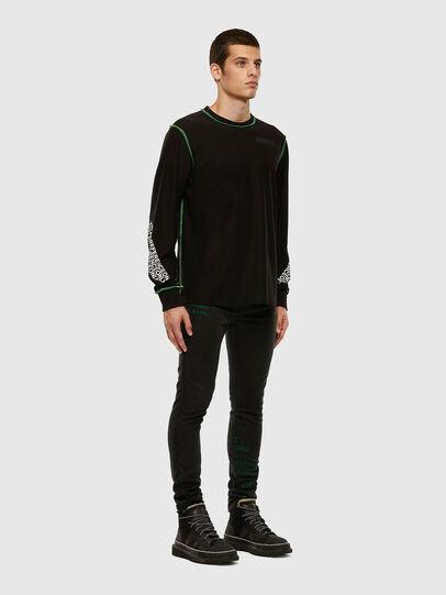 Diesel - D-REEFT JoggJeans® 009HD, Black/Dark grey - Jeans - Image 7