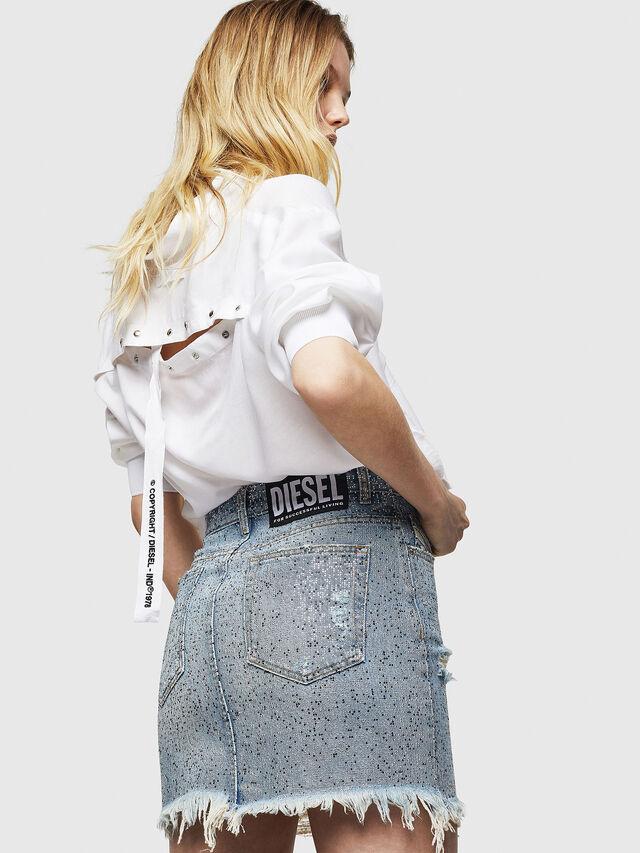 Diesel - DE-ELLE-S, Blue Jeans - Skirts - Image 5