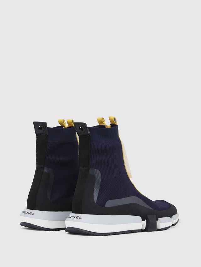 Diesel - H-PADOLA MID ZIP, Blue/Yellow - Sneakers - Image 3