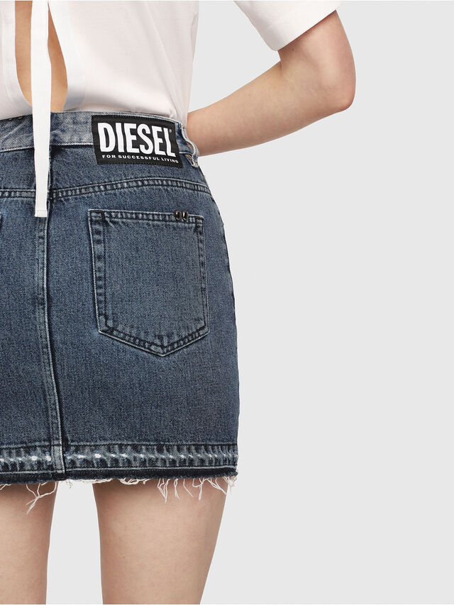 Diesel - DE-ELLE-M, Medium blue - Skirts - Image 4