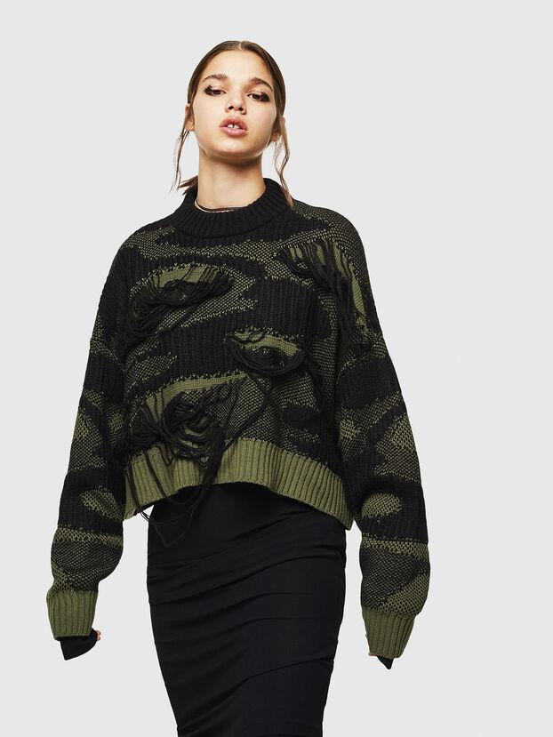 M-KAM, Black/Green - Knitwear