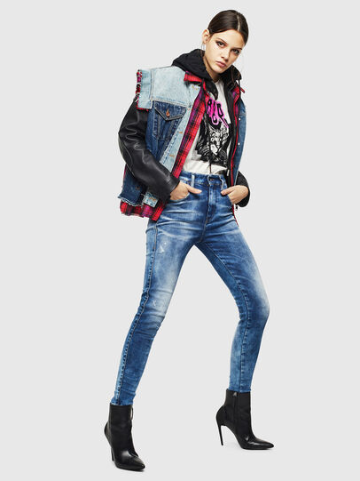 Diesel - Slandy High 0096J, Medium blue - Jeans - Image 7