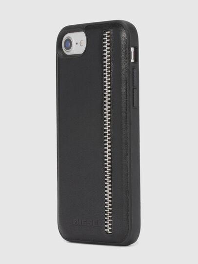Diesel - ZIP BLACK LEATHER IPHONE 8 PLUS/7 PLUS/6s PLUS/6 PLUS CASE, Black - Cases - Image 6