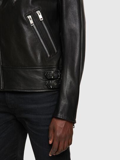 Diesel - L-GARRETT-A, Black - Leather jackets - Image 3