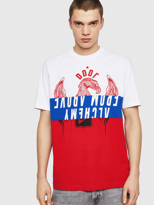 T-JUST-A1, White/Red/Blu - T-Shirts