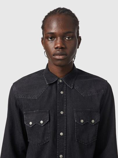 Diesel - D-EAST-P1, Black - Denim Shirts - Image 3