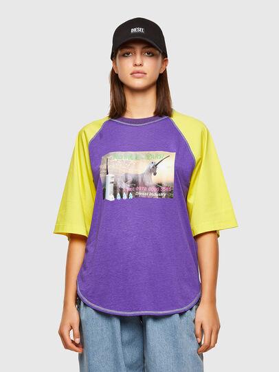 Diesel - T-SPO, Violet/Yellow - T-Shirts - Image 1