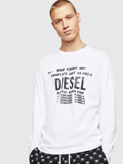 Diesel - T-DIEGO-B6-LONG, White - T-Shirts - Image 1