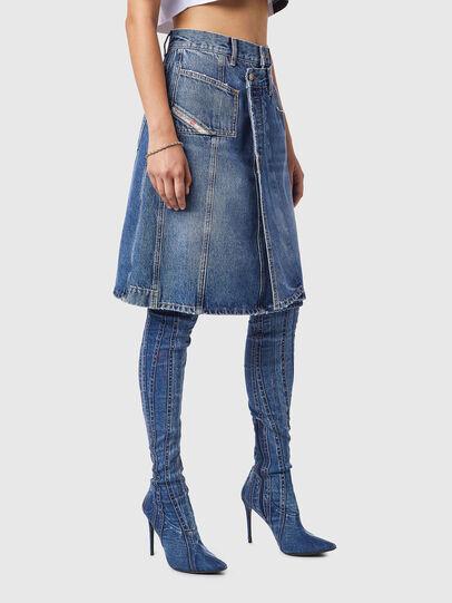 Diesel - DE-TOBY-SP, Medium blue - Skirts - Image 5