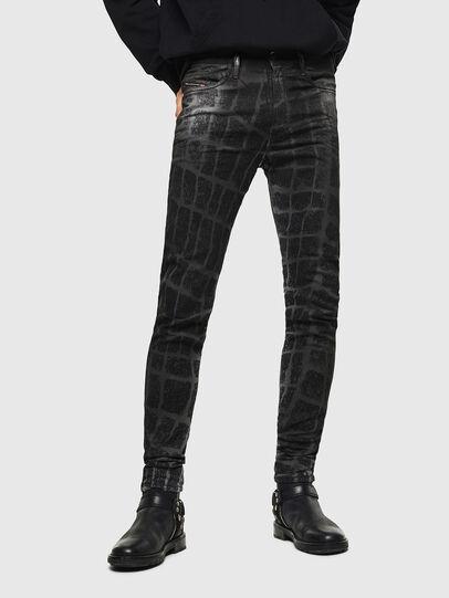 Diesel - D-Reeft JoggJeans 0094M, Black/Dark grey - Jeans - Image 1