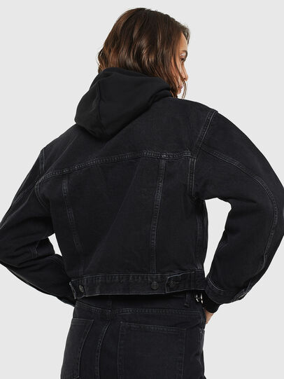Diesel - DE-CATY, Black/Dark grey - Denim Jackets - Image 2
