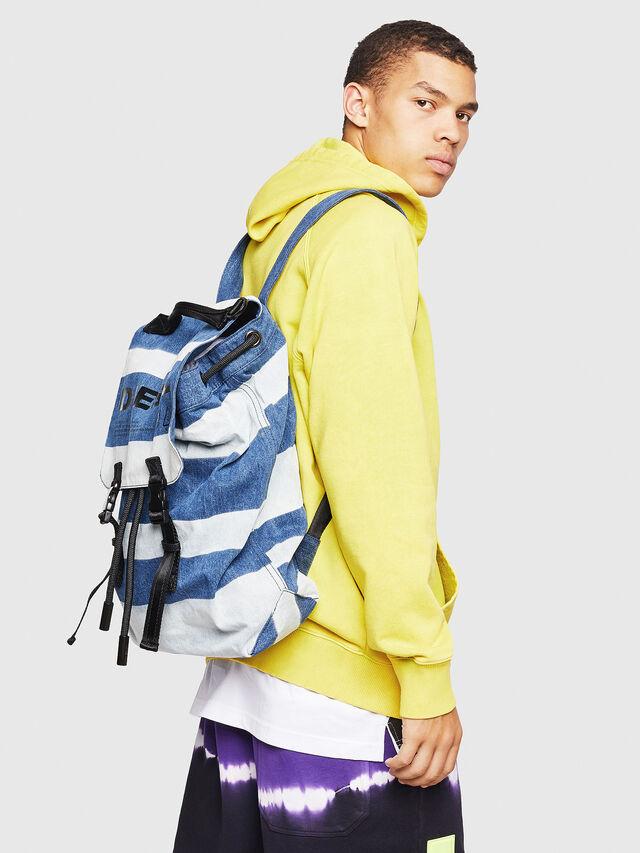 Diesel - VOLPAGO BACK, Blue Jeans - Backpacks - Image 6