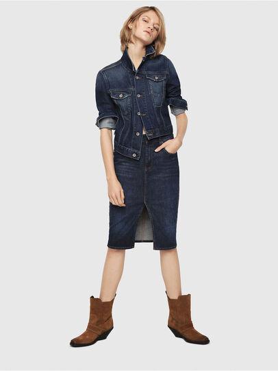 Diesel - DE-PENCIL, Blue - Skirts - Image 4