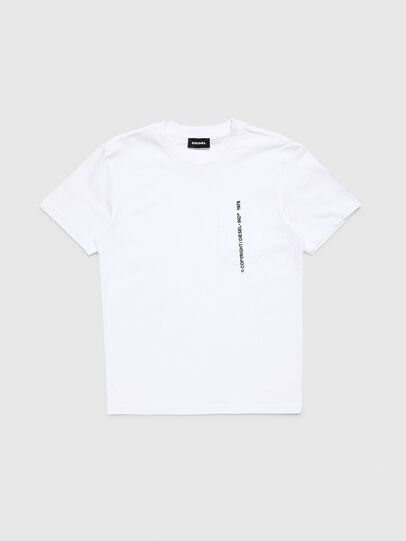 Diesel - TJUSTPOCKETCOPY, White - T-shirts and Tops - Image 1