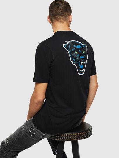 Diesel - T-JUST-B12, Black - T-Shirts - Image 4