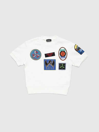 Diesel - SMAGGYSHPATCH OVER, White - Sweaters - Image 1