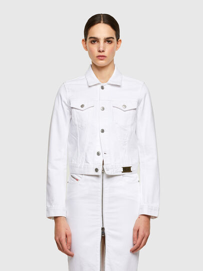 Diesel - DE-LIMMY, White - Denim Jackets - Image 1