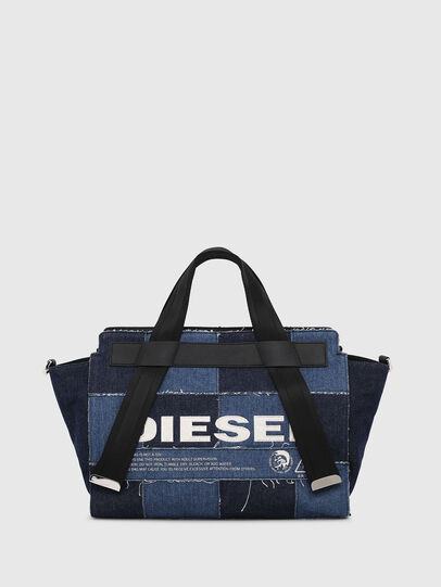 Diesel - F-CAORLY SATCHEL M, Blue - Satchels and Handbags - Image 1