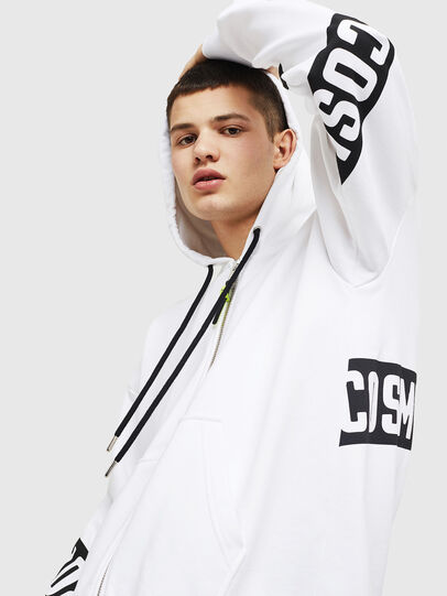 Diesel - S-ALBY-ZIP-A1, White/Black - Sweaters - Image 3